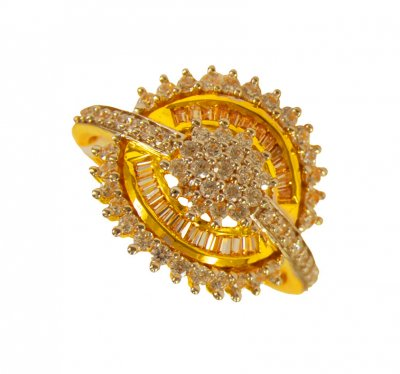 22k Gold CZ Ring ( Ladies Signity Rings )