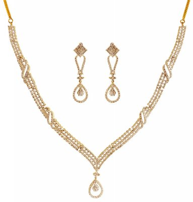 18K Diamond Necklace Set ( Diamond Necklace Sets )