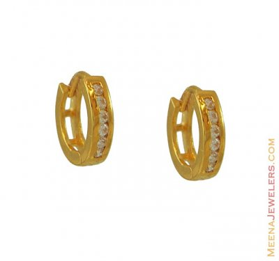 Signity Studded Earrings (22 Karat) ( Clip On Earrings )