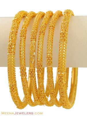 22k gold bangles set of 6 bast9526 22 karat indian