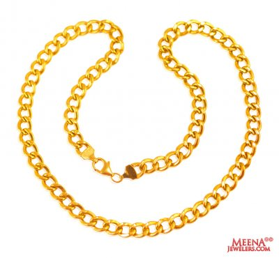 22 Kt Yellow Gold Mens Chain  ( Men`s Gold Chains )