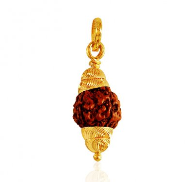 22k Gold  Rudraksh Pendant ( Ganesh, Laxmi and other God Pendants )