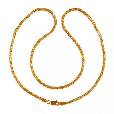 22K Fancy Gold Chain  ( 22Kt Gold Fancy Chains )