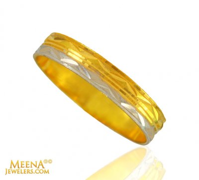 22kt Gold Two Tone Band ( Wedding Bands )