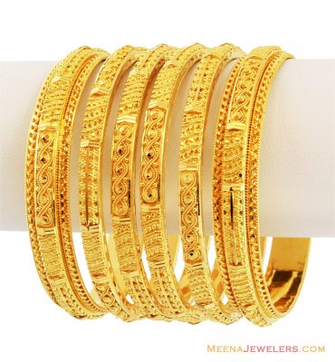 Designer Filigree Bangle Set(6 Pcs) ( Set of Bangles )