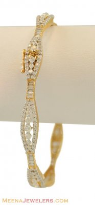 18k Gold Diamond Bangle ( Diamond Bangles )
