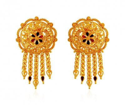 22K Filigree Meenakari Tops  ( 22 Kt Gold Tops )