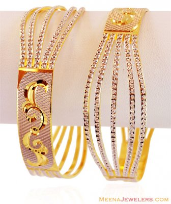 Gold Two Tone Beautiful Bangles  ( Two Tone Bangles )