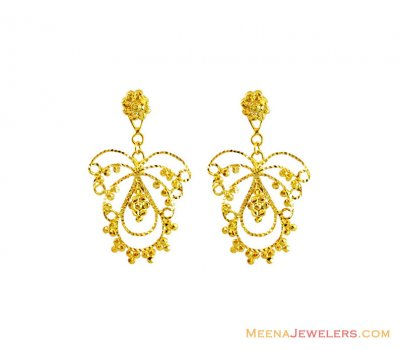 22Kt Gold Fancy Earrings ( 22Kt Gold Fancy Earrings )