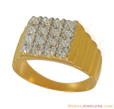 Mens Gold Ring (mat finish) ( Mens Signity Rings )