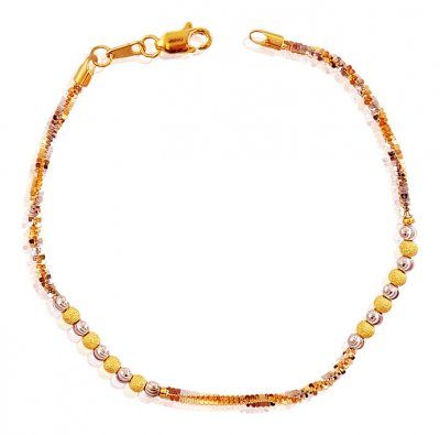 22K Delicate Bracelet Two Tone ( Ladies Bracelets )