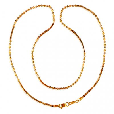 22KT Gold Balls Chain ( 22Kt Gold Fancy Chains )