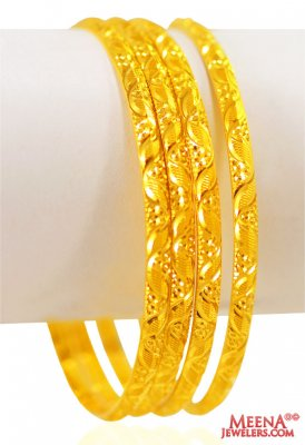 22 kt Gold Bangles Set (Set of 4) ( Set of Bangles )