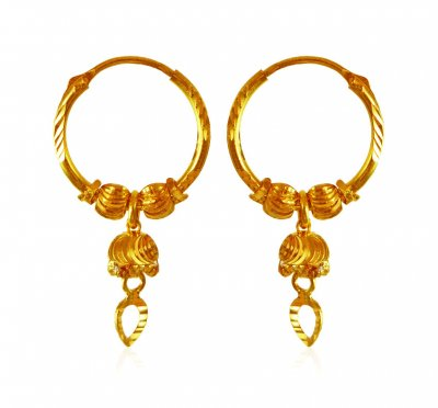 22K Gold Hoop Earrings ( Hoop Earrings )