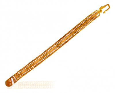 22 KT Gold Two Tone Bracelet ( Men`s Bracelets )