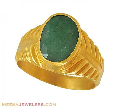 Astrological Emerald Ring (22kt) ( Astrological BirthStone Rings )