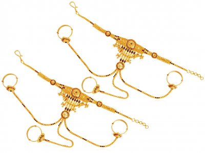 22K Gold Meenakari Panja 1 pc ( Ladies Bracelets )