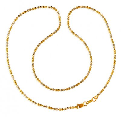 22KT Balls Chain (18 Inches) ( 22Kt Long Chains (Ladies) )