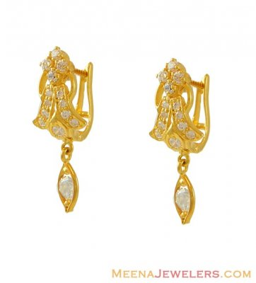 22k Gold Clip On Earrings ( Clip On Earrings )