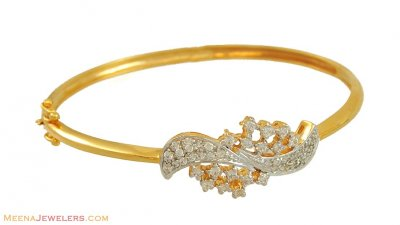 22k Gold Exclusive Signity Bangle ( Stone Bangles )