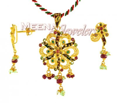 22K Fancy Pendant Set ( Fancy Pendant Set )