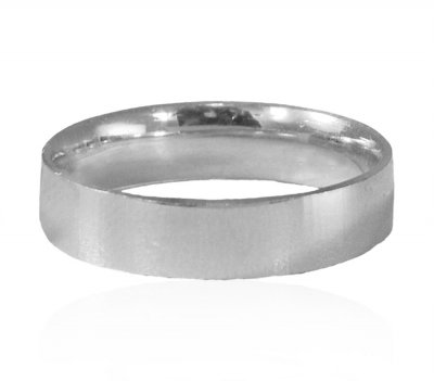 18 Kt White Gold Designer Wedding Band ( Wedding Bands )