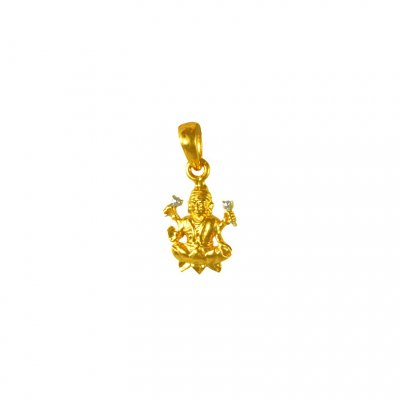 22k Gold Laxmi Pendant ( Ganesh, Laxmi and other God Pendants )