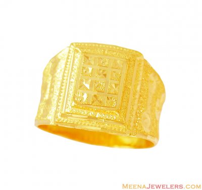 Indian Gold Men Ring (22Kt) ( Mens Gold Ring )