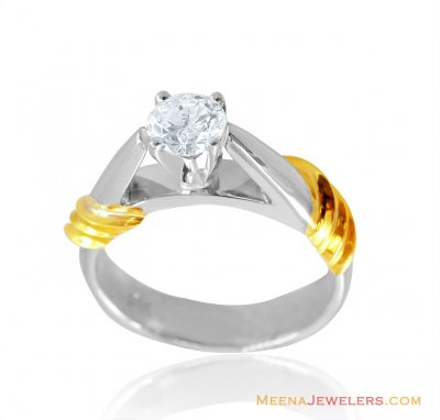 18K White Gold Ladies Fancy Ring ( Diamond Rings )