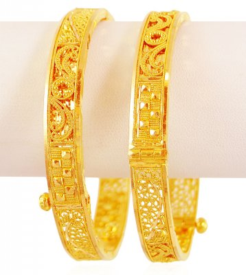 Handmade Filigree Gold Kada (2PC) ( Kadas )