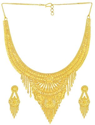 Gold Designer Necklace Set ( 22 Kt Gold Sets )