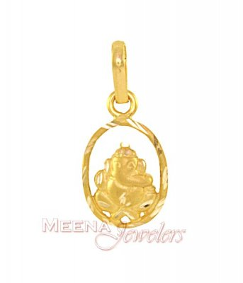 Ganesh Pendant (22K Gold) ( Ganesh, Laxmi and other God Pendants )