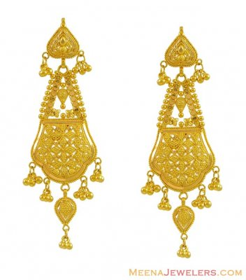 22k Filigree Earrings ( Long Earrings )