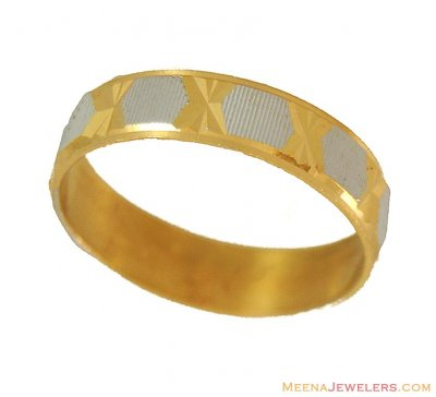 Gold Two Tone Band  ( Wedding Bands )