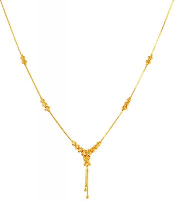 22K Gold Dokia Chain 16 In ( 22Kt Gold Fancy Chains )