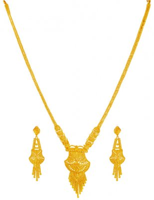 22kt Gold Patta Haar Set ( Bridal Necklace Sets )