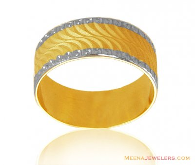 18K Two Tone wedding Band ( Wedding Bands )