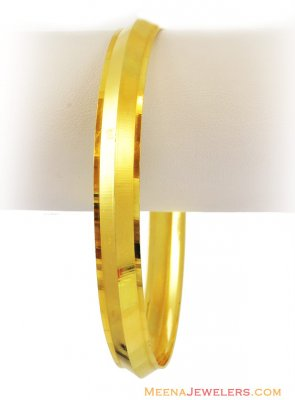 22K Mens Light Weight Kada  ( Mens Gold Kada )