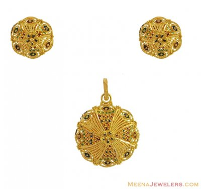 Gold Pendant Set (22Kt) ( Gold Pendant Sets )