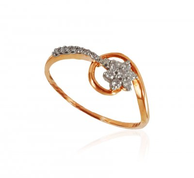 18KT Rose Gold Diamond Ring ( Diamond Rings )