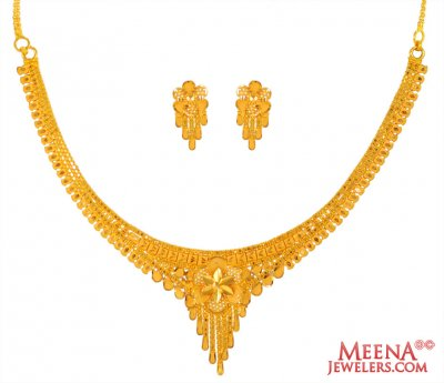 22 Karat Gold Necklace Set ( 22 Kt Gold Sets )