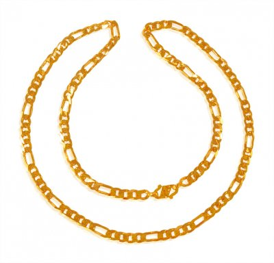22Kt Gold Figaro Chain ( Men`s Gold Chains )