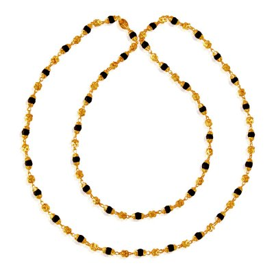 22Kt Gold Tulsi Mala ( 22Kt Long Chains (Ladies) )