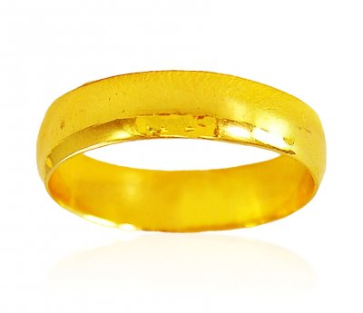 22Kt Gold Band (Unisex) ( Wedding Bands )