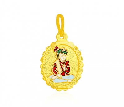 22k Gold Swami Narayan Pendant ( Ganesh, Laxmi and other God Pendants )
