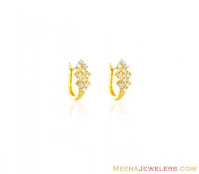 22k Gold Clip On Earrings
