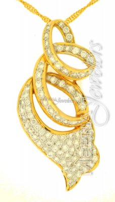 18Kt Gold Diamond Pendant ( Diamond Pendants )