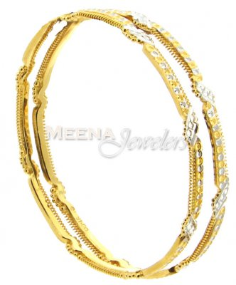22 Kt Gold Two Tone Bangles ( Two Tone Bangles )