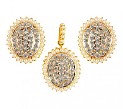 22K Gold Pendant Set ( Fancy Pendant Set )