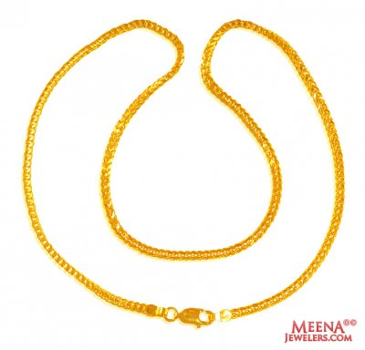 22Kt Gold Fox Tail Chain  ( Plain Gold Chains )